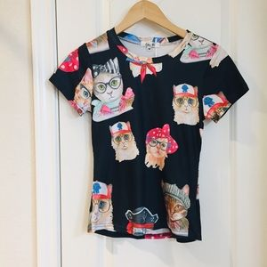 Chic Mi Posh Cat Short Sleeve Tee Medium